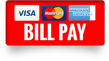 Bill Pay Button with acceptable card logos visa master card american express..